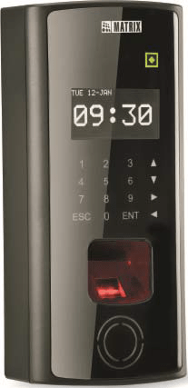 Fingerprint and card based access control system