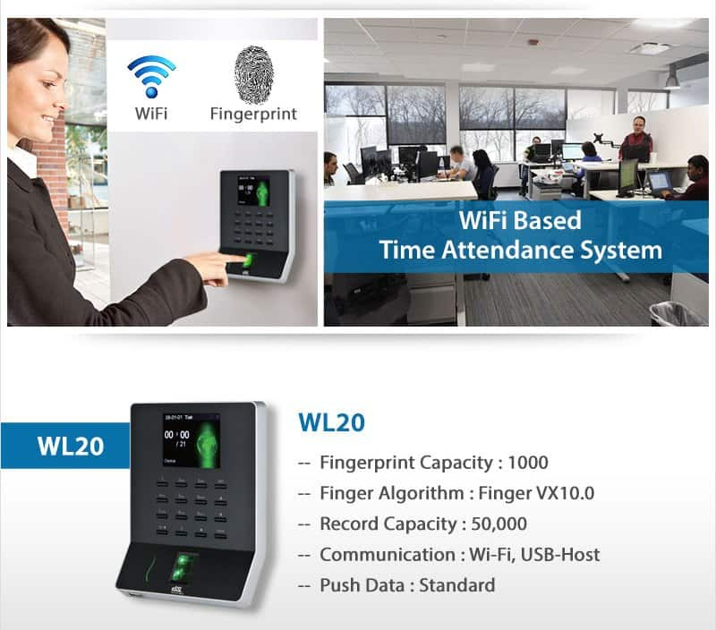 Wifi based Time Attendance System WL20