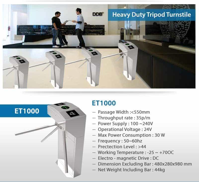 Heavy Duty Tripod Turnstiles ET1000