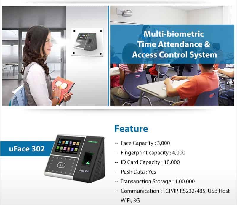 uface302 Face Attendance Machine eSSL