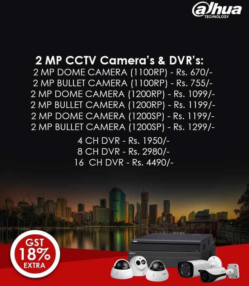 Dahua 2MP CCTV Cameras DVRS Price List