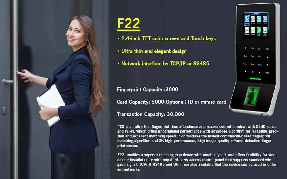 eSSL F22 Biometric Attendance Machine with Access Control