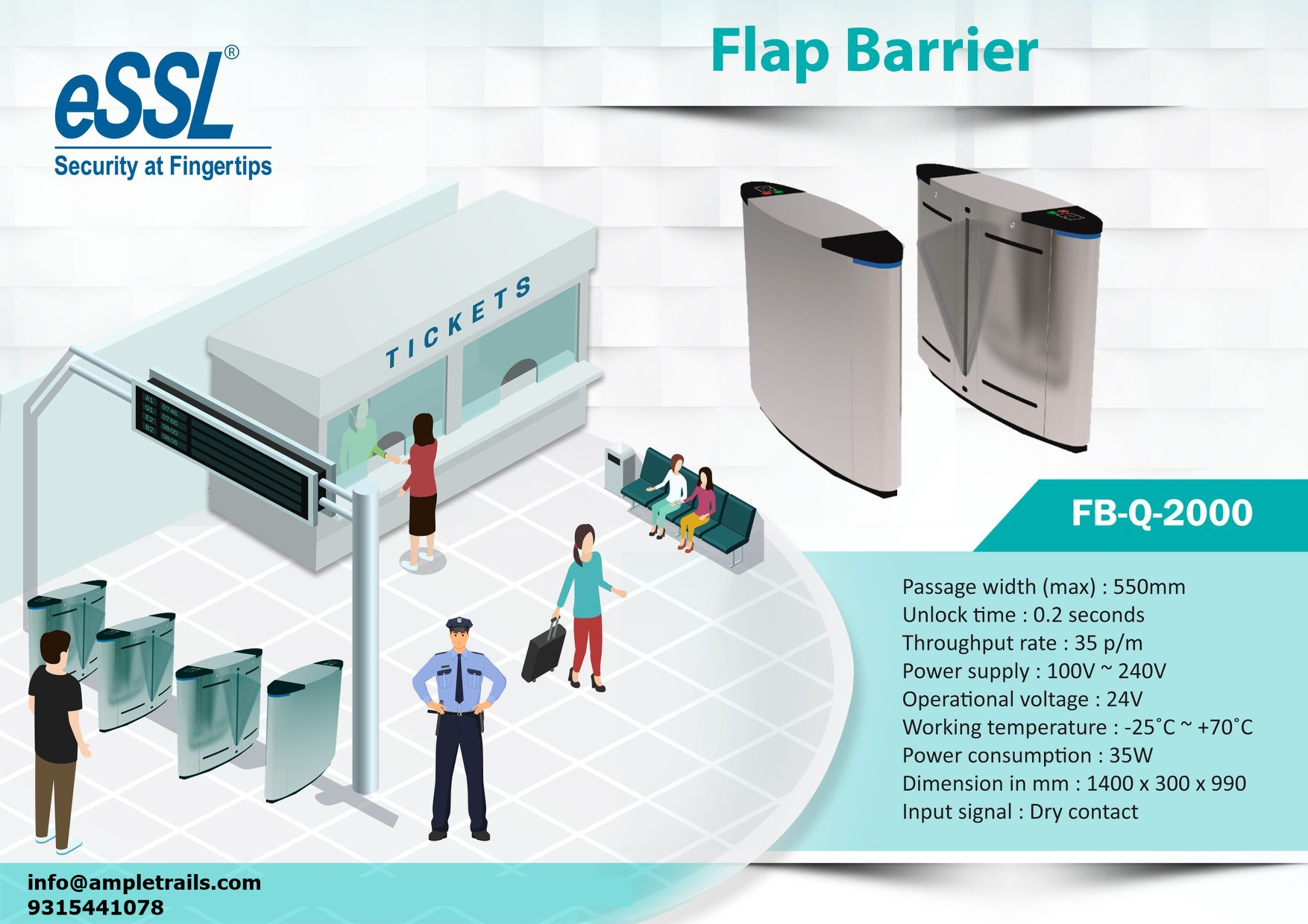 Flap Barriers in Gurgaon