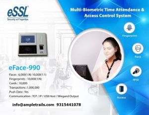 eFace 990 eSSL Face Attendance Machine with Fingerprint