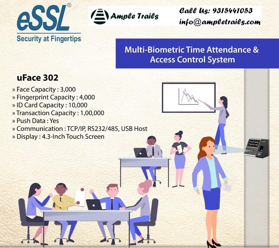 Face Fingerprint Time Attendance Machine essL Uface302