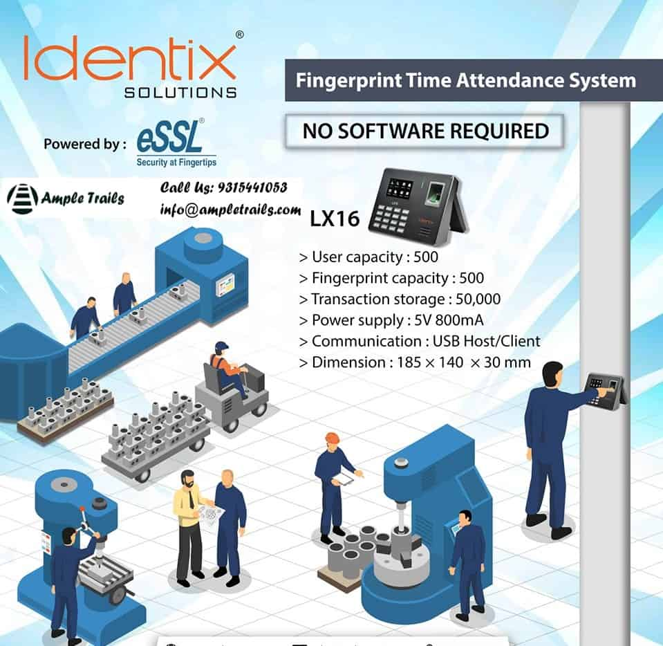 Fingerprint Time Attendance System eSSL Identix LX16