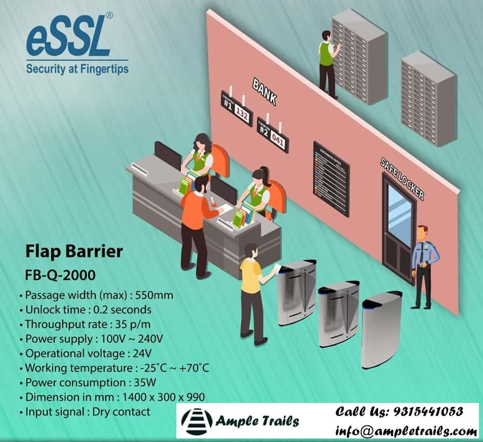 Flap barriers / Flap Gates, Swing Barrier Gates For Entrance / Exit | India