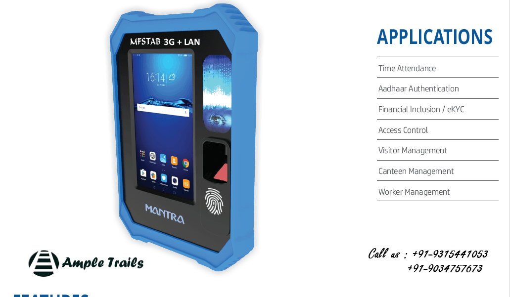 MFSTAB 3G LAN + Wifi Enabled Biometric Machine