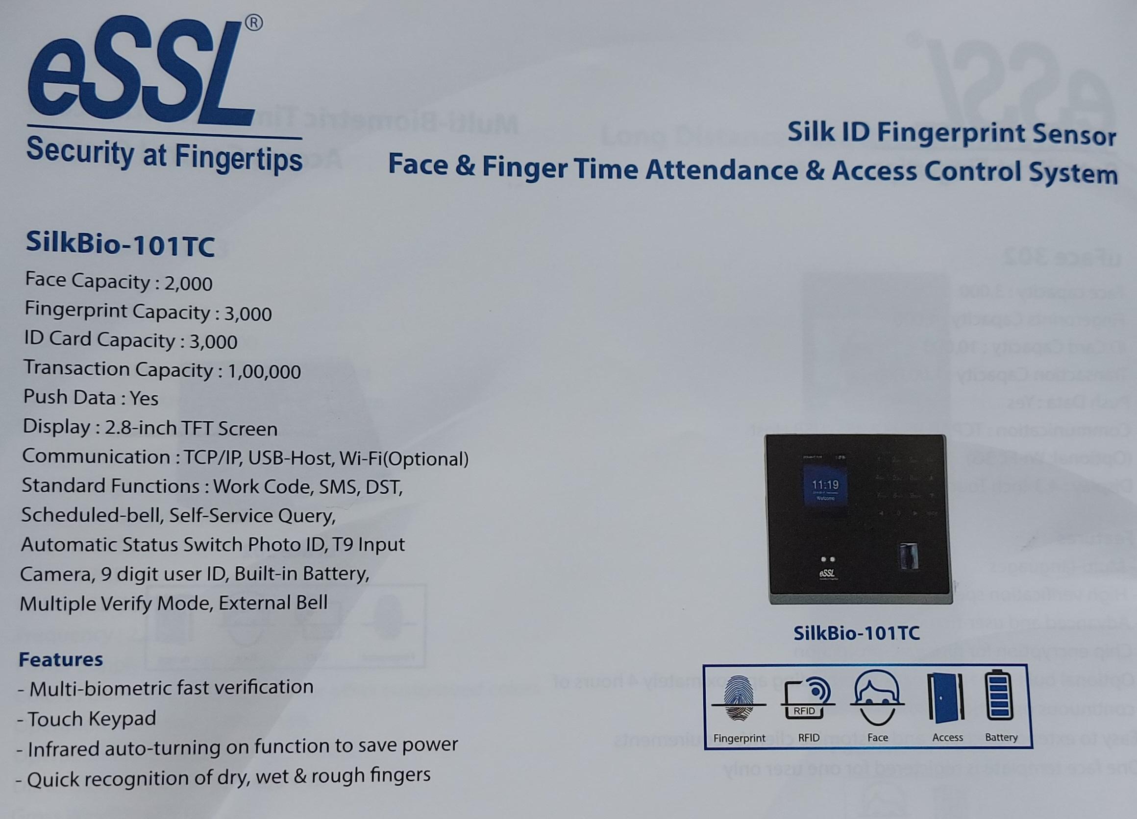 face & finger attendance system