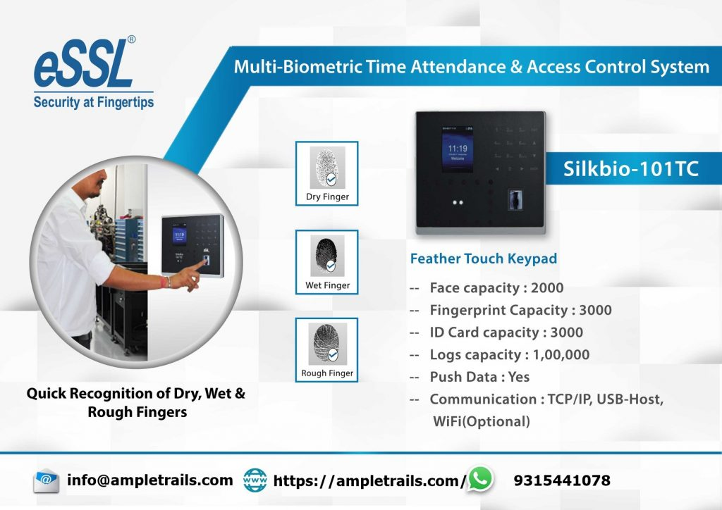 SilkBio-101TC Face Fingerprint Access Control Syste